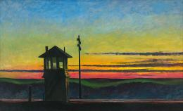 Edward Hopper, Railroad Sunset, 1929. Öl auf Leinwand, 74.5 x 122.2 cm; Whitney Museum of American Art, New York; Josephine N. Hopper Bequest, Inv. N.: 70.1170. © Heirs of Josephine Hopper / 2019, ProLitteris, Zürich; Foto: © 2019. Digital image Whitney Museum of American Art / Licensed by Scala