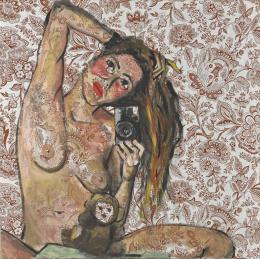 """Elke Krystufek, """"My Picabia"""", 1997 Acryl auf Stoff Albertina, Wien. Sammlung Essl © Elke Krystufek"""