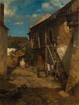 Emil Jakob Schindler, Alter Hof in Weißenkirchen, 1880 © Landessammlungen NÖ