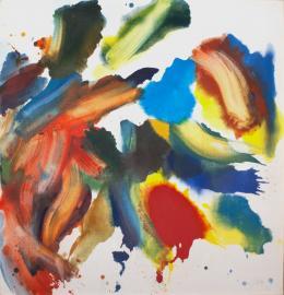 Enzianwurzel - 2018 - Öl auf Leinwand, 125 x 120,5 cm signiert rechts unten (c) Galerie Welz