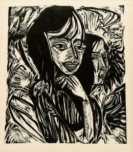 Ernst Ludwig Kirchner, Fehmarnmädchen, 1913, Holzschnitt, mpk, Graphische Sammlung, Foto und © mpk