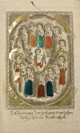 Erscheinung der heiligen vierzehn Nothhelfer in Frankenthal