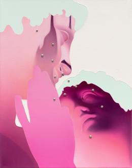 Vivian Greven, ex VII, 2020, Öl und Acryl auf Leinwand, 50 x 39 cm, Courtesy die Künstlerin und Kadel Willborn, Düsseldorf, Foto: Ivo Faber