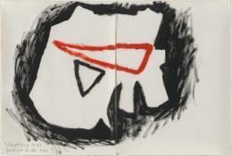 Barbara Hee, Gesänge an den toten Tiger, 1983. Öl auf Papier, 75 x 110 cm. © Sammlung Kunst(Zeug)Haus