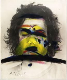 Face Farces: Farbstreifen, 1972, Albertina, Wien © Arnulf Rainer