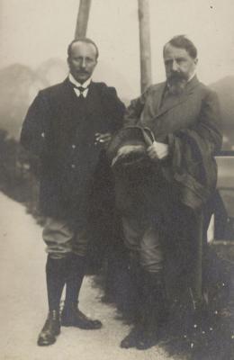 Felix Salten mit Arthur Schnitzler, um 1910  © Wienbibliothek im Rathaus