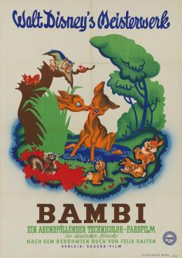 Werbeplakat für den Film Bambi, 1951  © Wienbibliothek im Rathaus