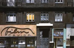 Filmcasino Kino 1987 Öl auf Holzplatte © Franz Zadrazil