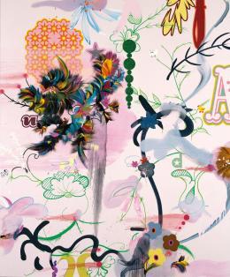 Fiona Rae, Wonderland, 2004, Acryl-Mischtechnik auf Leinwand, Albertina, Wien – The Essl Collection © Bildrecht 2021 © Foto: Buchmann Galerie, Köln