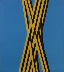 """Florentina Pakosta, 1993/2 (aus der Serie """"Trikolore Bilder""""), 1993 Öl auf Molino, 150 x 135 cm © Courtesy: Sammlung Angerlehner, Tahlheim/Wels. Foto: Horst Stasny"""