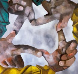 "Francesco Clemente, ""Kreuz des Südens"", Öl auf Leinwand Albertina, Wien – The Jablonka Collection © Francesco Clemente"