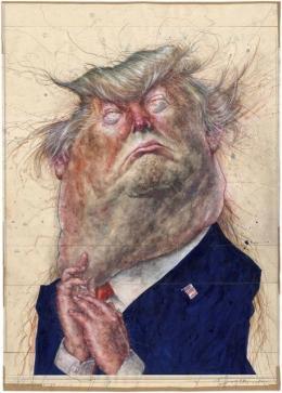"""Frank Hoppmann, """"Donald Trump"""" , 2016 © Frank Hoppmann"""