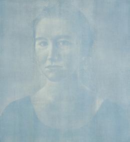 Franz Gertsch, Silvia, 2001/2002, Holzschnitt (2 Platten), Albertina, Wien – Dauerleihgabe der Österreichischen Ludwig-Stiftung für Kunst und Wissenschaft © Franz Gertsch