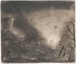 Fred Uhlman, Schlachtfeld (aus »Captivity«), 1940, Staatsgalerie Stuttgart, © The Estate of Fred Uhlman