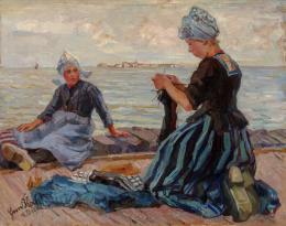 """Friederike Koch-Langentreu, """"Holländische Mädchen am Strand"""", 1911,  Öl auf Leinwand, 76 x 96,5 cm, Neue Galerie Graz, Foto: Universalmuseum Joanneum/N. Lackner"""