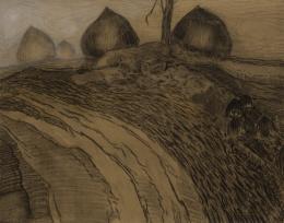 Paul Gauguin, Heuschober an einem Feldweg, 1888,  Nordico Stadtmuseum Linz