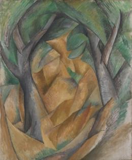 Georges Braque, Les Arbres / Die Bäume, 1908, 73 x 60 cm, Öl auf Leinwand, Statens Museum for Kunst, København © VG Bild-Kunst, Bonn 2021