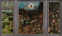 Hieronymus Bosch, Weltgerichts-Triptychon, um 1490 - um 1505, Öltempera auf Eiche © Gemäldegalerie der Akademie der bildenden Künste Wien