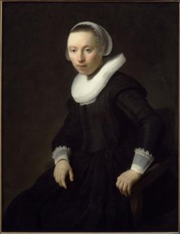 Rembrandt Harmensz. van Rijn (1606–1669): Bildnis einer unbekannten jungen Frau 1632, Öl auf Leinwand © Gemäldegalerie der Akademie der bildenden Künste Wien
