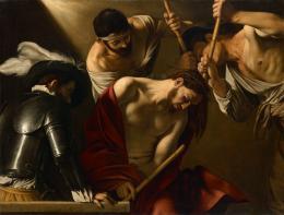 Michelangelo Merisi da Caravaggio (Mailand 1571–1610 Porto Ercole), Dornenkrönung Christi, Um 1603, Leinwand, 127 × 166 cm, Wien, Kunsthistorisches Museum © KHM-Museumsverband