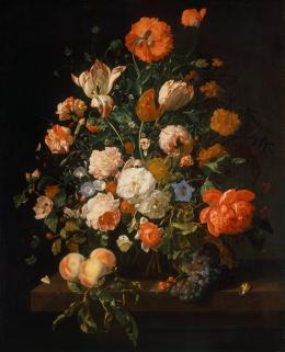 Rachel Ruysch (1664–1750), Blumenstrauß 1706 © KHM-Museumsverband