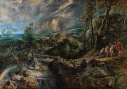 Gewitterlandschaft mit Jupiter, Merkur, Philemon und Baucis, Peter Paul Rubens (1577–1640), 1620–1636, Kunsthistorisches Museum Wien, Gemäldegalerie © KHM-Museumsverband