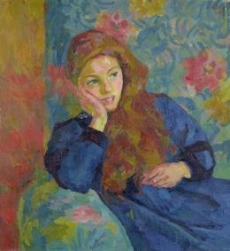 Giovanni Giacometti, Pensierosa, 1913, Öl auf Leinwand, 65 x 60 cm, Privatbesitz