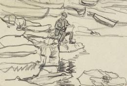 Gabriele Münter, Kandinsky in Rapallo, 1906, Städtische Galerie im Lenbachhaus und Kunstbau München, Gabriele Münter Stiftung 1957 © VG Bild-Kunst, Bonn 2020