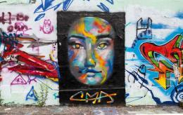 Zwischen Spittelau und Urania zieren zahlreiche Graffitis die Wände am Donaukanal. © ÖAW