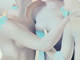 Vivian Greven, Grazia IV, 2019, Öl und Acryl auf Leinwand, 150 x 200 cm, Nadine Schneider Privatsammlung, Foto: Ivo Faber