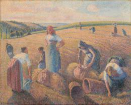 Camille Pissarro, Les Glaneuses, 1889, Öl auf Leinwand, HxB: 65.4 x 81.1 cm © Kunstmuseum Basel - Jonas Haenggi