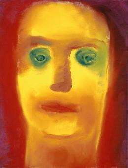 Miriam Cahn, Ohne Titel, 1995, Öl auf Leinwand, HxB: 30.5 x 23.7 cm © Kunstmuseum Basel - Martin P. Bühler