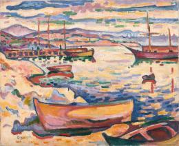 "Georges Braque, ""Port de l'Estaque"", 1906, Öl auf Leinwand, HxB: 50 x 61 cm, Kunstmuseum Basel- Dauerleihgabe aus Privatsammlung, Foto: Privatsammlung, © 2020, Pro Litteris, Zurich"