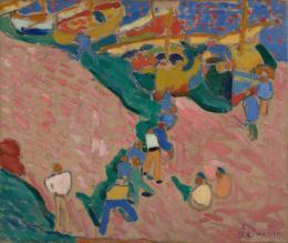 """André Derain, """"Pêcheurs à Collioure"""", 1905, Öl auf Leinwand, HxB: 46 x 54 cm, Kunstmuseum Basel- Dauerleihgabe aus Privatsammlung, Foto: Privatsammlung, © 2020, Pro Litteris, Zurich"""