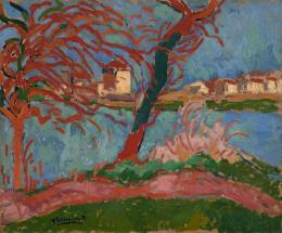 "Maurice de Vlaminck, ""Bords de la Seine à Carrières-sur-Seine"", 1906, Öl auf Leinwand, HxB: 54 x 65 cm, Kunstmuseum Basel- Dauerleihgabe aus Privatsammlung © Privatsammlung"