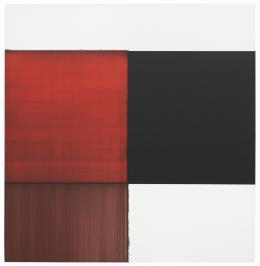 Callum Innes, Exposed Painting Crimson Red, 2014, Hilti Art Foundation © Callum Innes