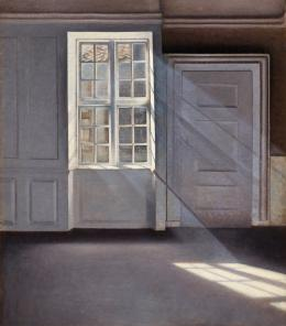 Vilhelm Hammershøi (1864–1916) Sonnenstrahlen oder Sonnenlicht, 1900 Öl auf Leinwand, 70 x 59 cm Ordrupgaard, Kopenhagen © Foto: Anders Sune Berg