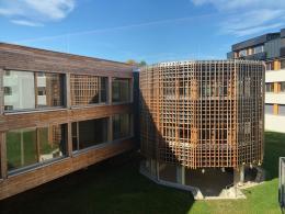 Höhere Bundeslehranstalt für Landwirtschaft und Ernährung Pitzelstätten, Kärnten, Architektur: klingan konzett architektur, Foto: © R. Lackner