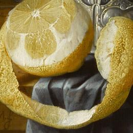 Cornelis de Heem, Stillleben mit Austern, Zitronen und Trauben, (Ausschnitt), Residenzgalerie Salzburg, Inv.-Nr. 561 © 2019 RGS/Ghezzi