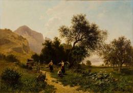 Heinrich Tomec, Sommertag bei Dürntein, 1889 © Landessammlungen NÖ