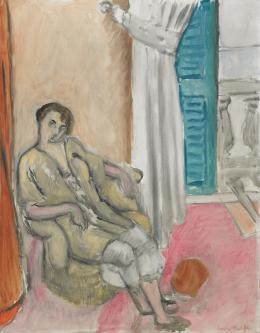 Henri Matisse, Femme assise devant la fenètre ouverte, 1919 © Dauerleihgabe an Hahnloser/Jaeggli Stiftung, Villa Flora, Winterthur Foto: Reto Pedrini, Zürich