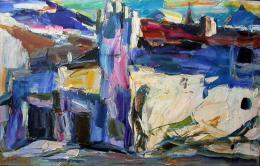 """Herbert Danler """"Mals"""", 80iger Jahre, Öl auf Leinwand, 60 x 95 cm, (c) Galerie Hartl, Wien/AT"""