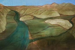 Miriam Cahn: hier habe ich gewohnt, 10.06. + 04.07.2018. Öl auf Leinwand, 170 x 260 cm; Foto: Markus Tretter, Kunsthaus Bregenz. Courtesy of the artist, Galerie Jocelyn Wolff, Paris, und Meyer Riegger, Berlin/Karlsruhe; © Miriam Cahn