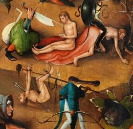 Hieronymus Bosch, Weltgerichts-Triptychon, Detail, um 1490 - um 1505, Öltempera auf Eiche © Gemäldegalerie der Akademie der bildenden Künste Wien