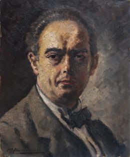 Max Hirschenauer, Porträt des Kunsthistorikers Dr. Justus Schmidt, o. D. (um 1930),  Nordico Stadtmuseum Linz