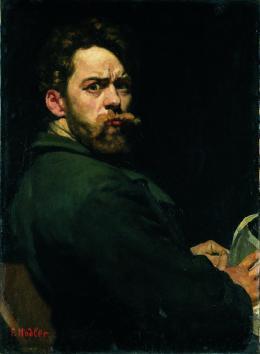 Hodler Ferdinand Selbstbildnis (Der Zornige), 1881 Öl auf Leinwand 73 x 53 cm Kunstmuseum Bern Ankauf bei der Bernischen Künstlergesellschaft mit Mitteln aus einem Legat von Charles Edmond von Steiger-Pinson