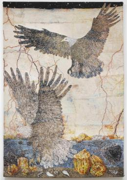 Kiki Smith, Guide Courtesy of the artist and Barbara Gross Galerie, Munich Kiki Smith Guide 2012 Jacquard-Tapisserie 287 x 190,5 cm