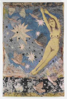 Kiki Smith, Sky, 2011 Photograph courtesy the artist and Magnolia Editions, Oakland © Kiki Smith, courtesy Pace Gallery Kiki Smith Sky 2011 Jacquard-Tapisserie 287 x 190,5 cm