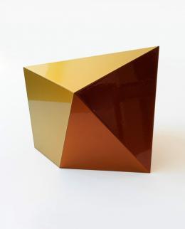 Hanna Roeckle, Pyrit Copper, 2016, Lack auf SWISSCDF, 25.8 x 23.5 x 21 cm,  courtesy bechter kastowsky galerie