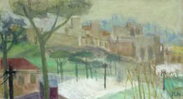 Rudolf Hradil - Caracalla Thermen (Rom) - 2002 Öl auf Jute 65 x 120 cm (c) Galerie Welz